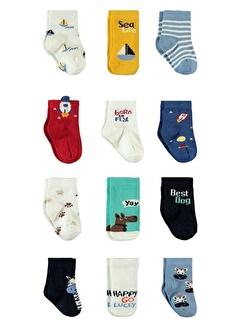 STEP Step Erkek Bebek 12'li Çorap Set 0-24 Ay Ekru Step Erkek Bebek 12'li Çorap Set 0-24 Ay Ekru